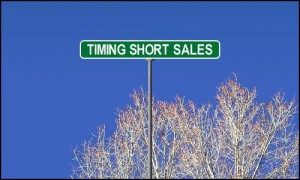 Timing short sales in Real Estate