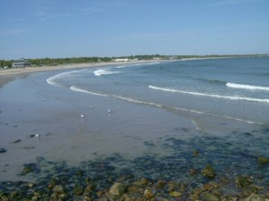 Daytime view of Narragansett Beach
