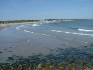 Daytime view of Narragansett Beach