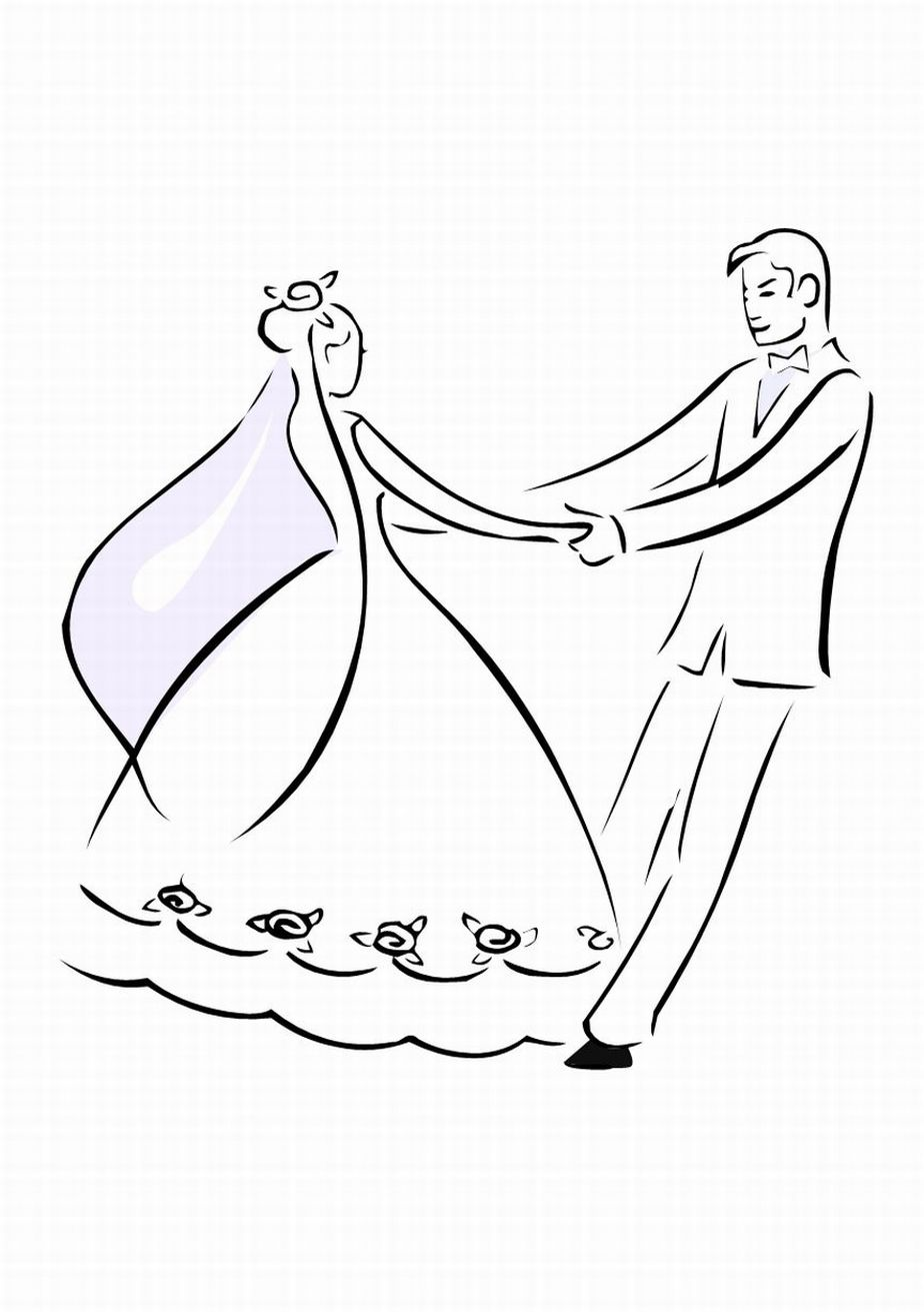 weddings colouring pages page 3