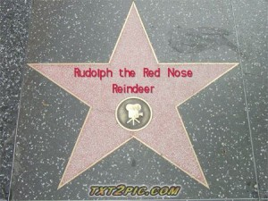 Rudolph the Red Nose Reindeer is a Star