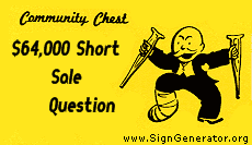 Short sales or loan modifications