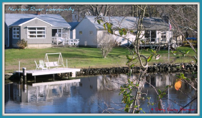 Edgewater neighborhood in waterfront Narragansett RI real estate