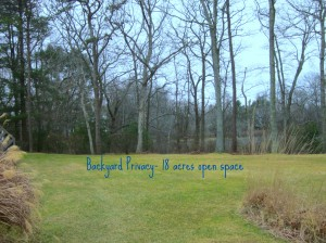Backyard at 56 Deerfield Court - North Kingstown RI Condo real estate for sale