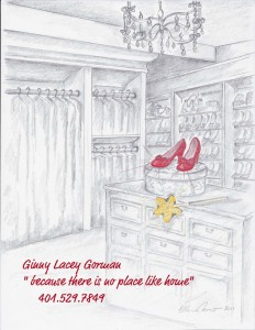 Real Estate Agent - Ginny Lacey Gorman - sparkly red shoes Real Estate Agent