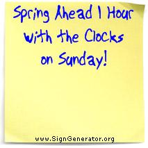 Daylight savings time on sunday march 11