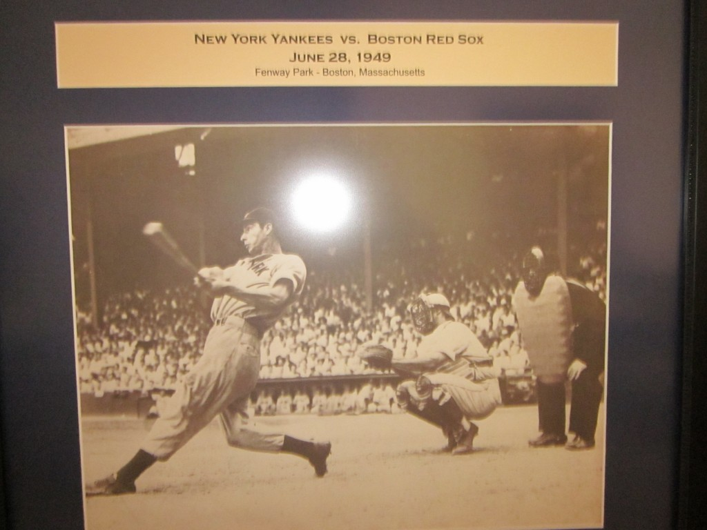 the Bronx Bullet-Joe DiMaggio -New York Yankees at Boston Fenway Park