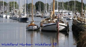 Waterfront views of the Wickford RI harbor at the Arts Festival