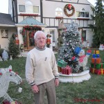 Roland Desjarlais & Christmas display