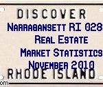 Narragansett RI 02882 Real Estate Market Statistics November 2010