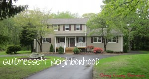 Quidnessett neighborhood of homes in North Kingstown real estate