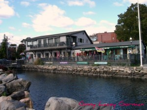 Wickford RI along the waterfront