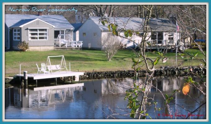 Edgewater neighborhood in waterfront Narragansett RI real estate