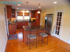 Stunning Kitchen & dining room within this home for sale