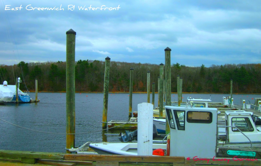 Small clamming boats along the East Greenwich waterfront - real estate