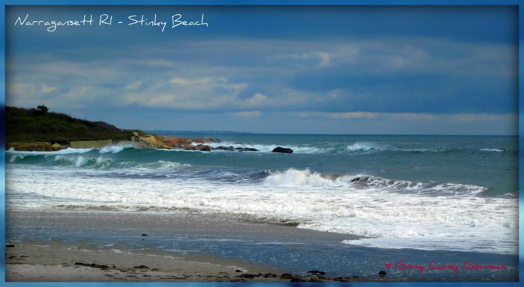 Narragansett RI Beach & real estate with the ocean