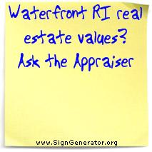 waterfront ri real estate is worth what?