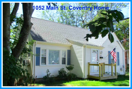 Cape Cod Home for Sale 1052 Main Street Coventry RI 02816